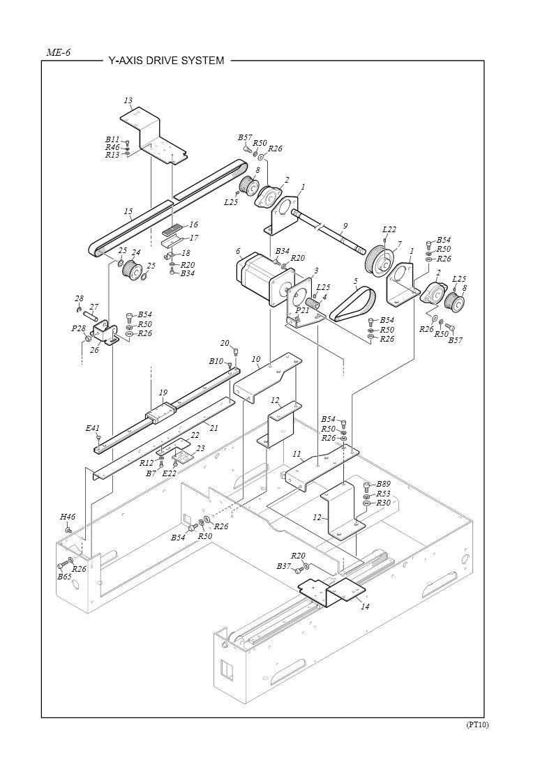 tajima embroidery machine parts list
